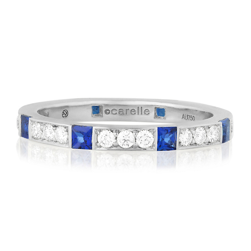 Carelle Diamond & Sapphire Band Ring