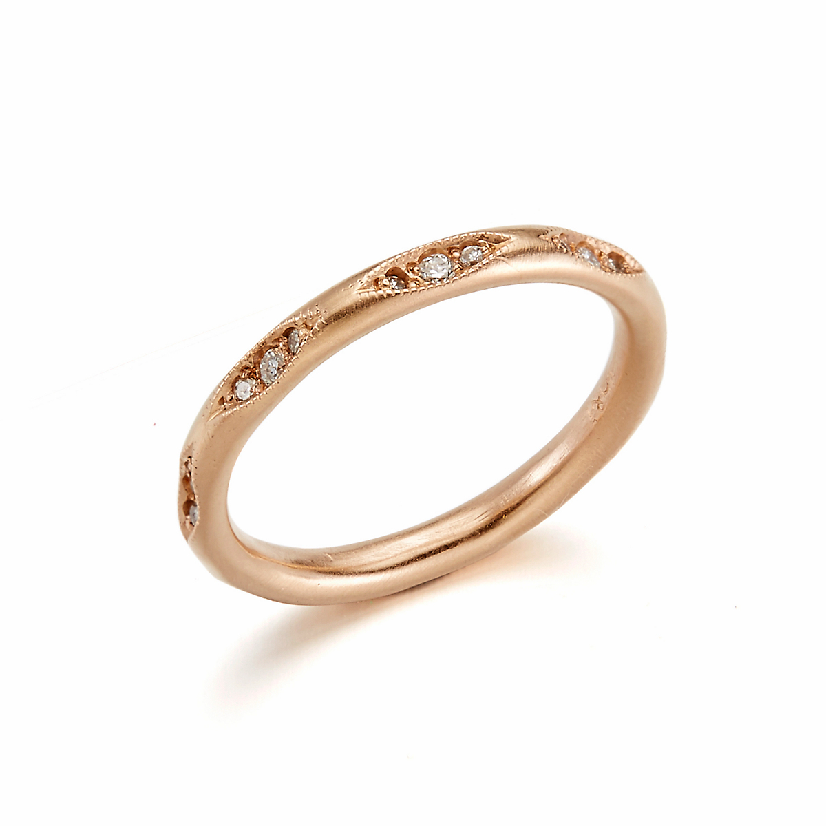 ILA Clara Diamond & Rose Gold Ring