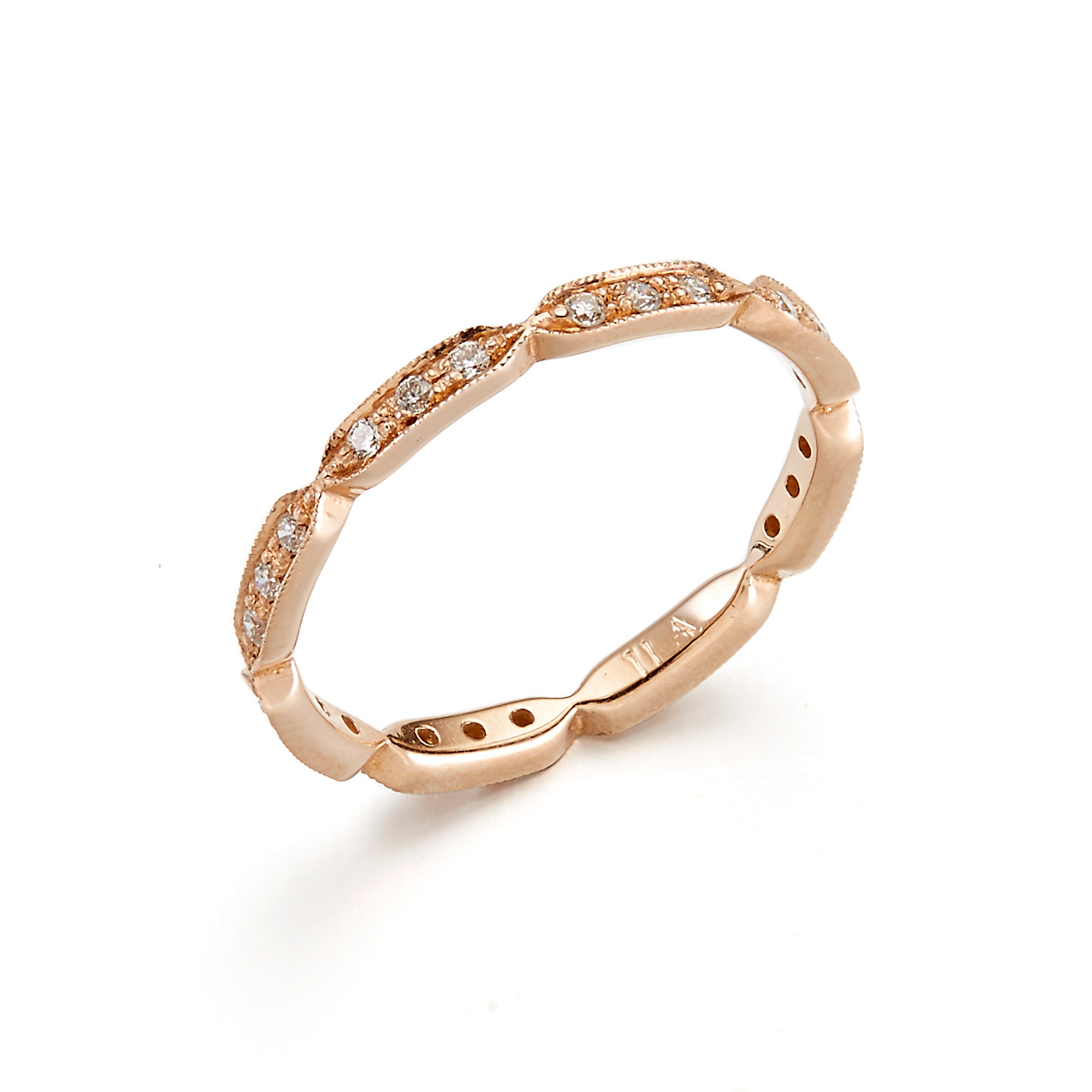 ILA Nehra Diamond & Rose Gold Ring