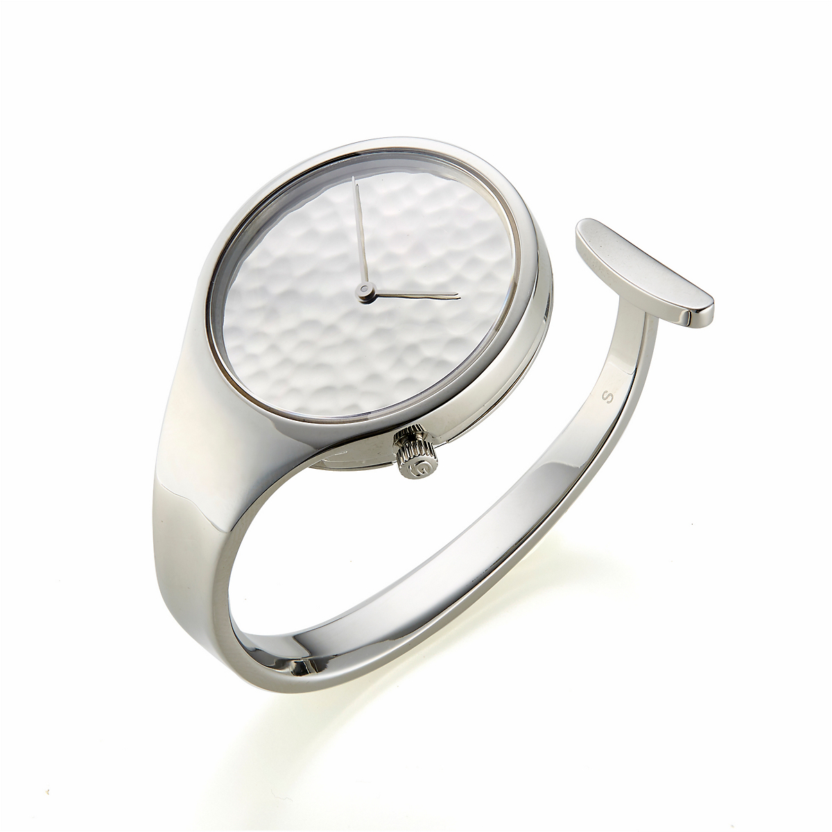 Georg Jensen Vivianna Hammered Limited Edition Silver Dial Watch