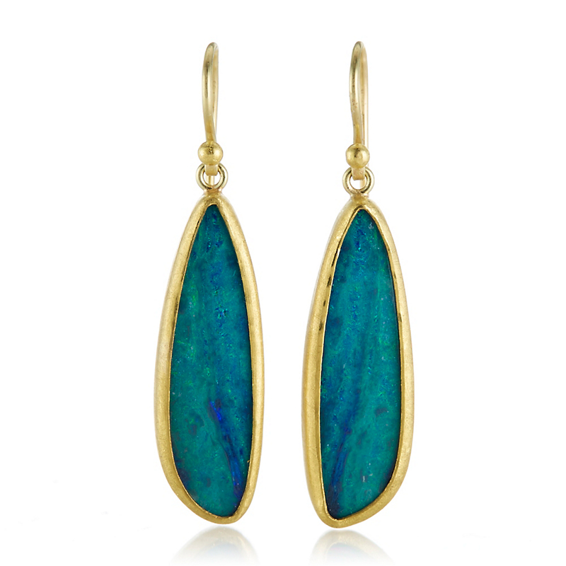 Petra Class Long Opal Drop Earrings