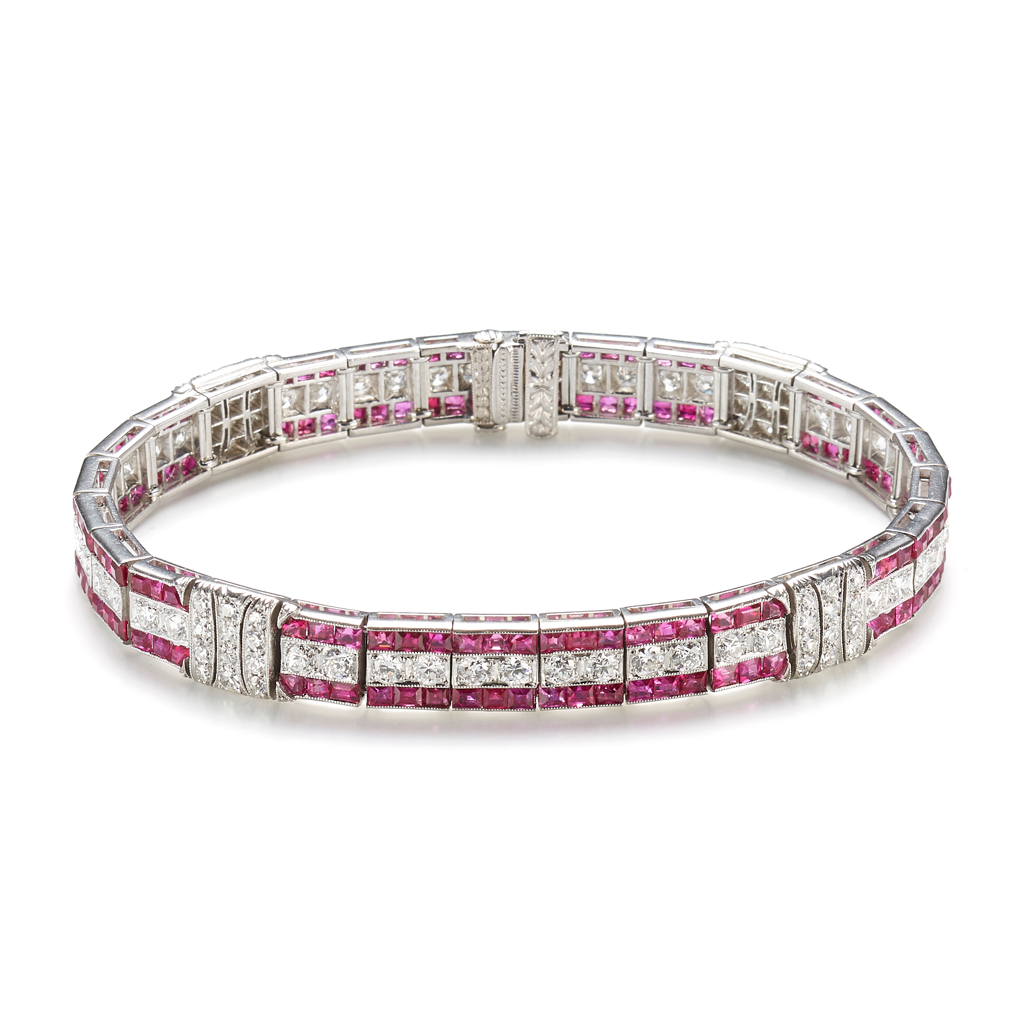 Ruby & Diamond Tiffany & Co. Art Deco Bracelet