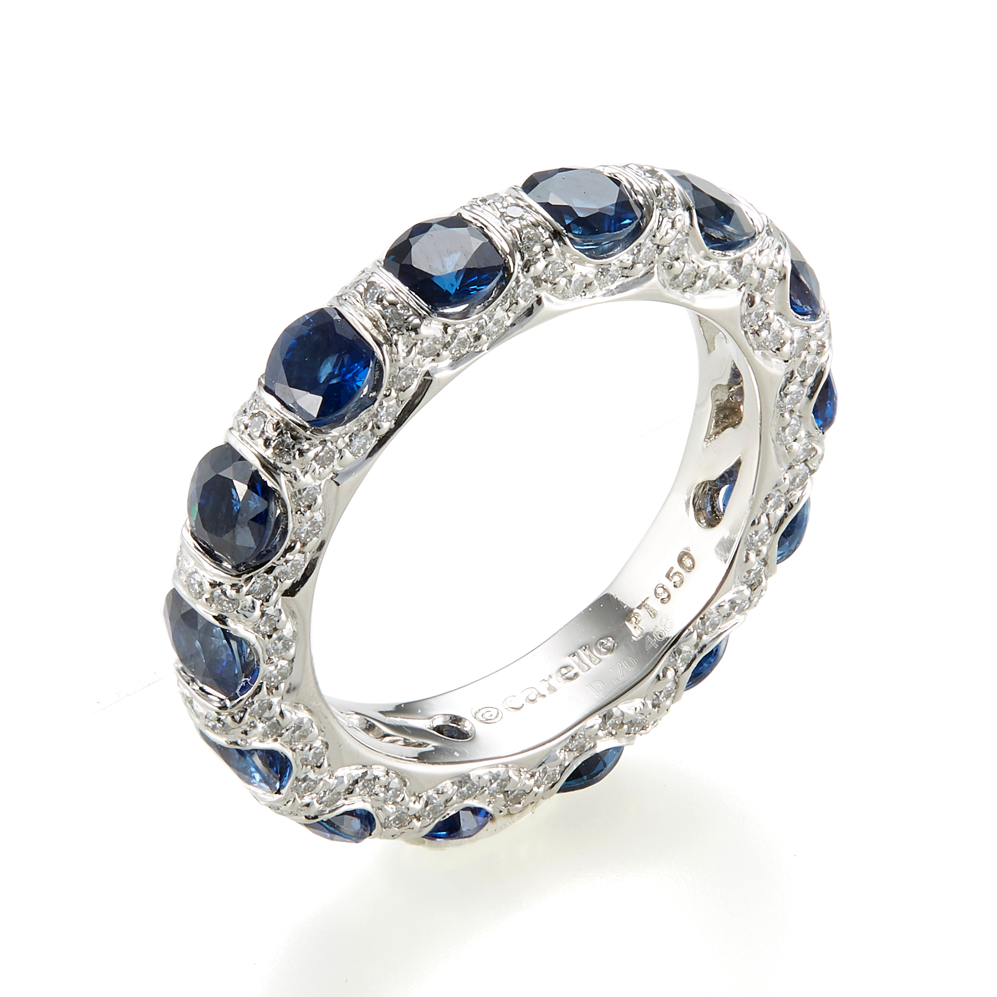 Carelle Diamond & Sapphire Carizma Eternity Band Ring