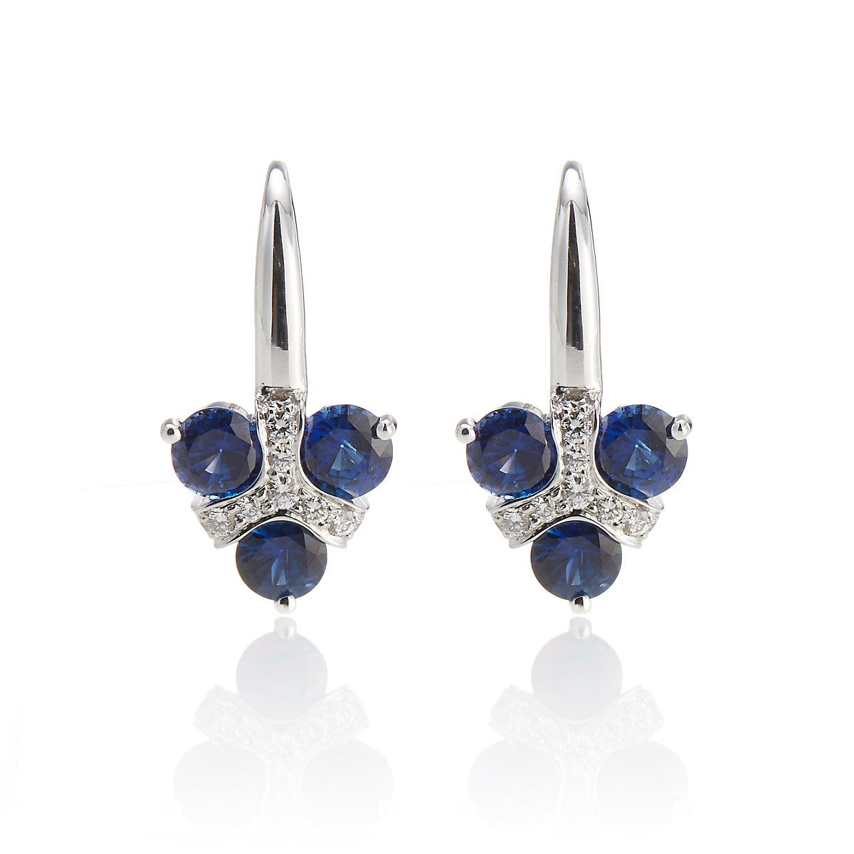 Carelle Diamond & Sapphire Carizma Trio Earrings