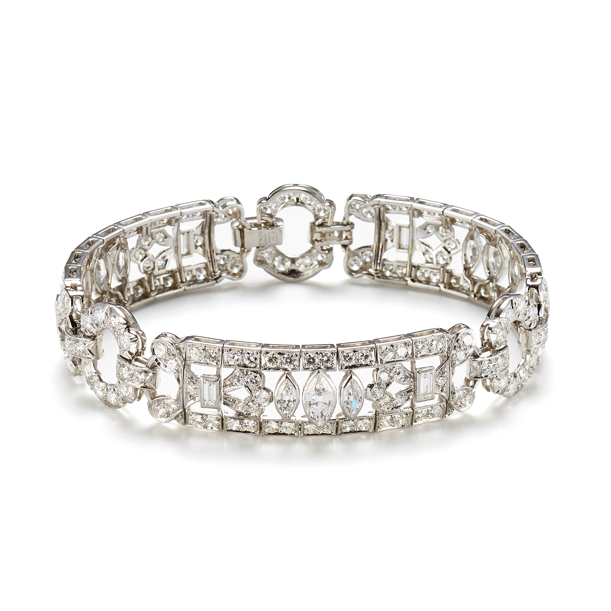Diamond Open Work Art Deco Bracelet