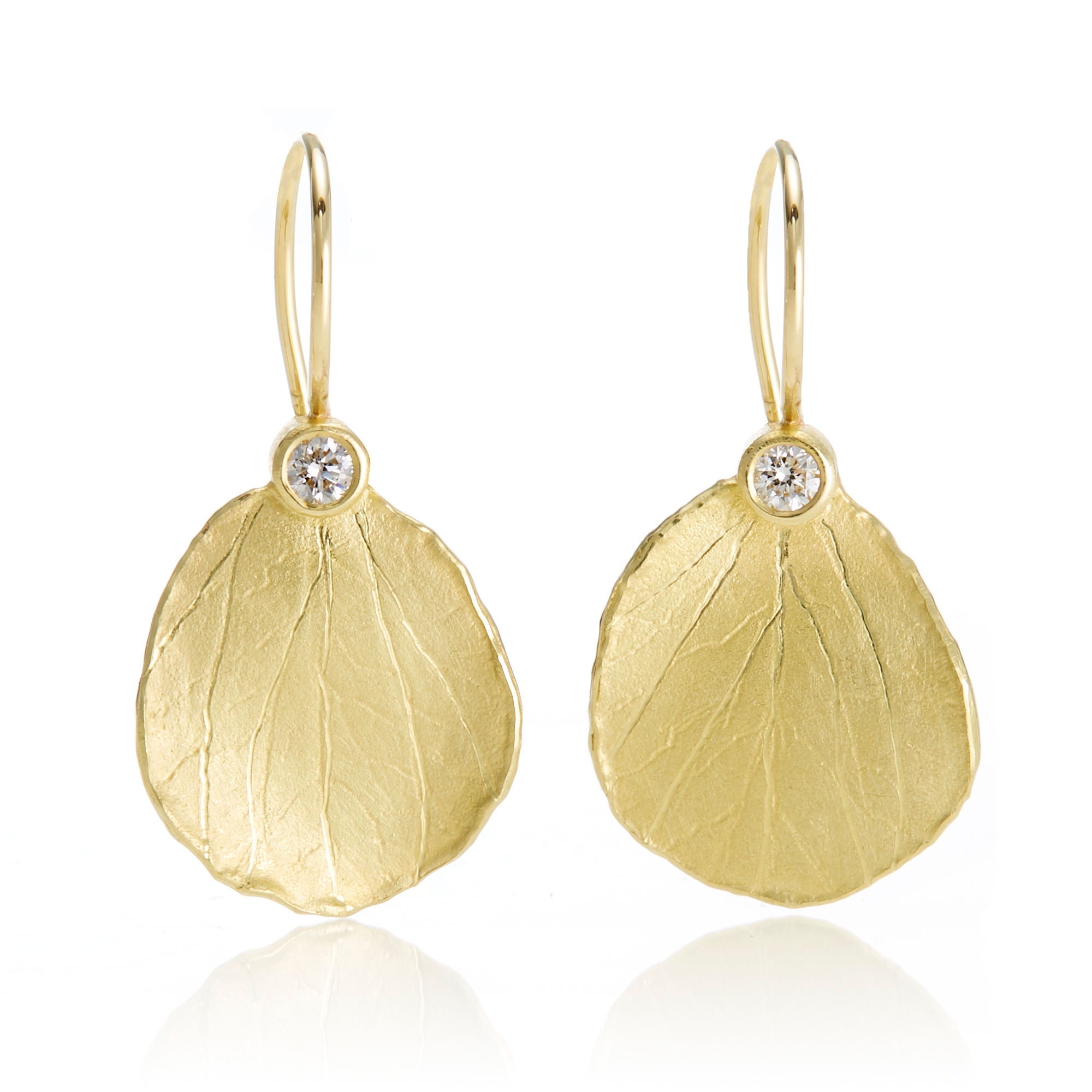 Barbara Heinrich Petal Diamond Drop Earrings