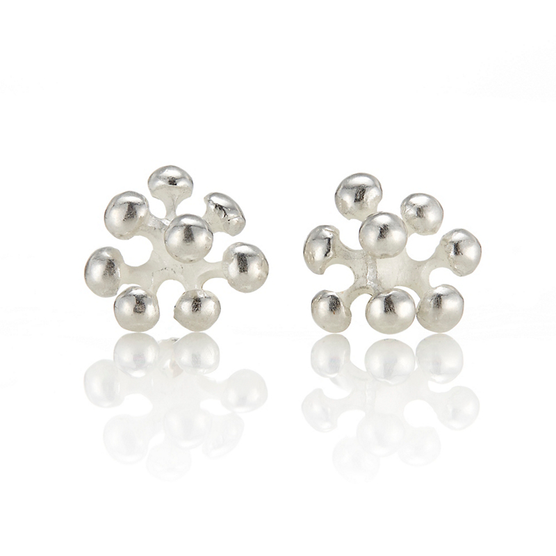 John Iversen Sterling Silver Berry Stud Earrings
