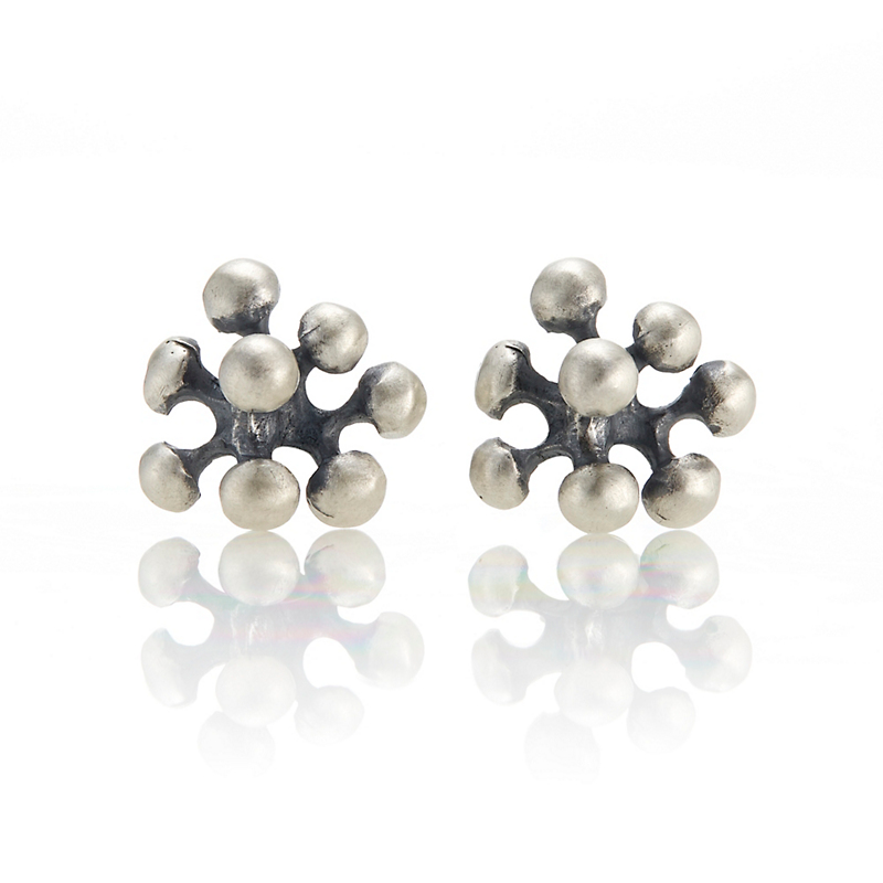John Iversen Oxidized Sterling Silver Berry Stud Earrings