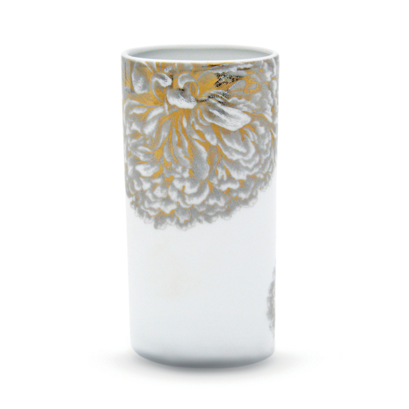 Gold & Platinum Vase, Short