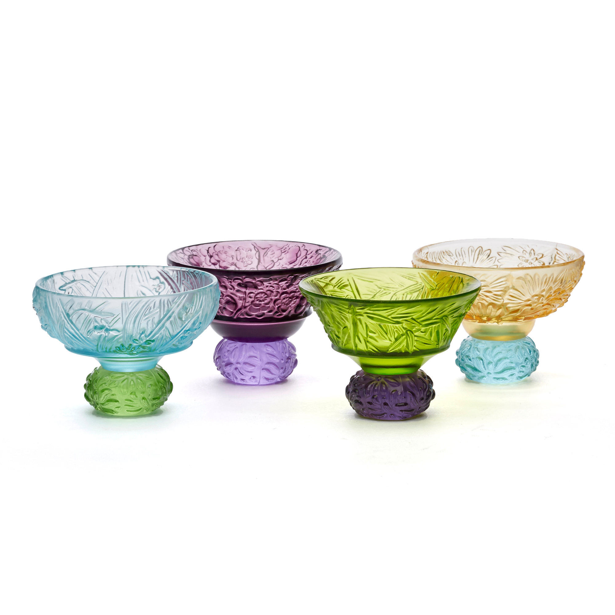 Liuli Set of 4 A Drink to Virtue Sake Cups