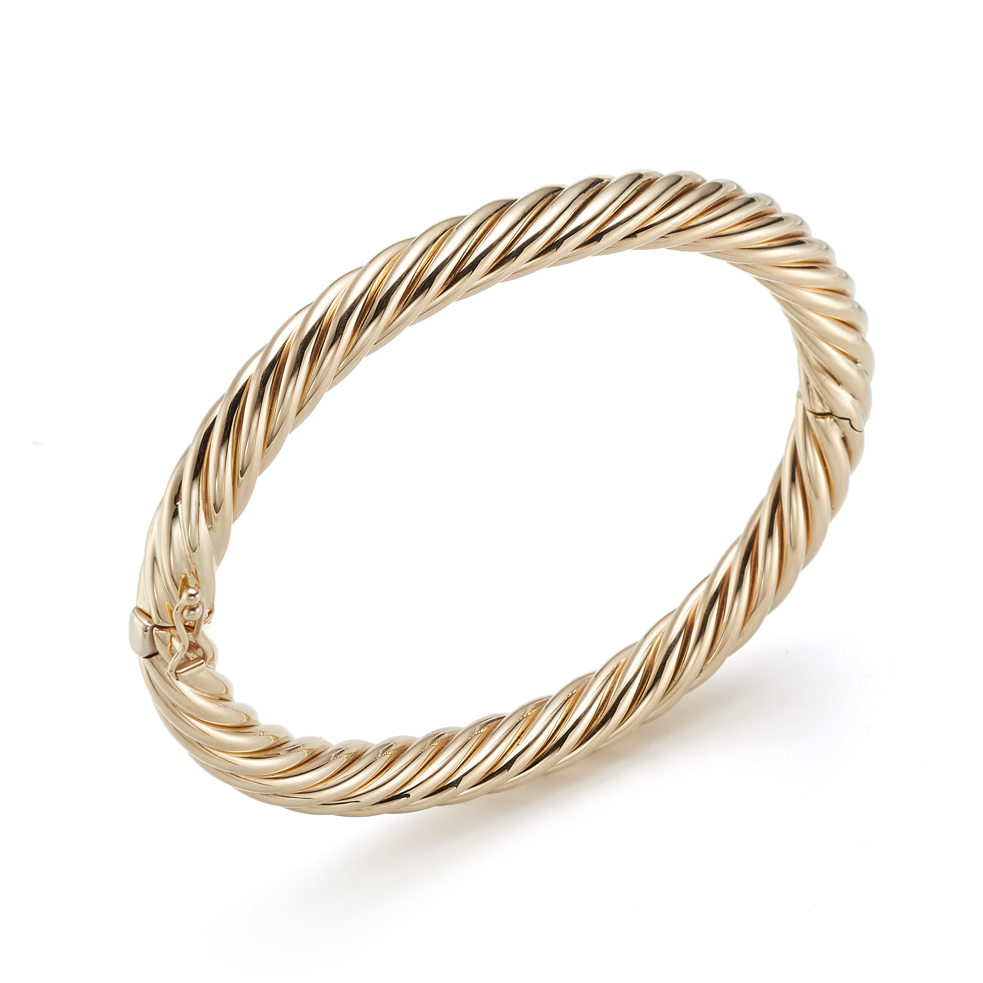 Hinged Gold Swirl Bangle