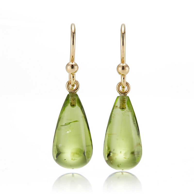 Gump's Smooth Peridot Drop Earrings