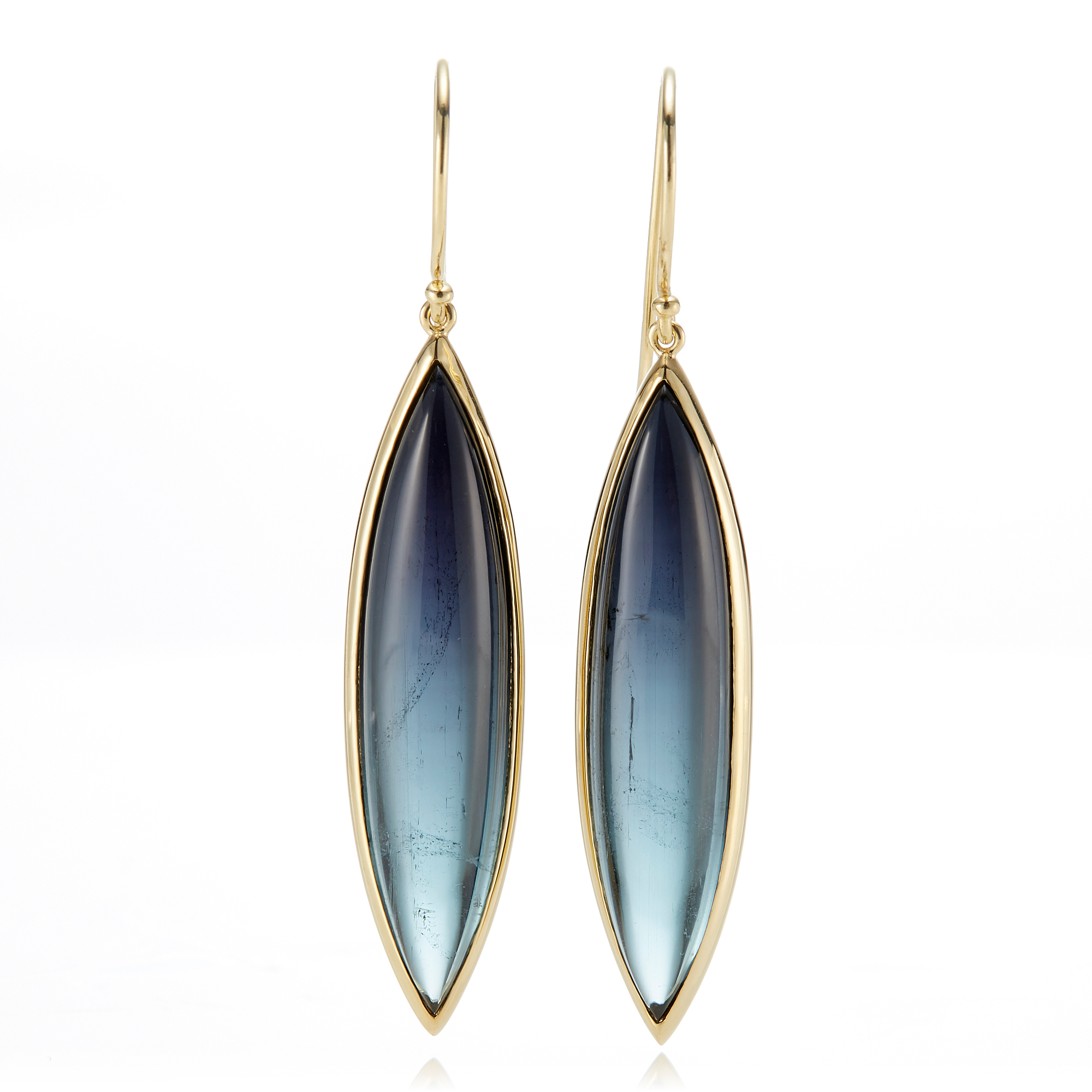 Gump's Blue Tourmaline Navette Drop Earrings
