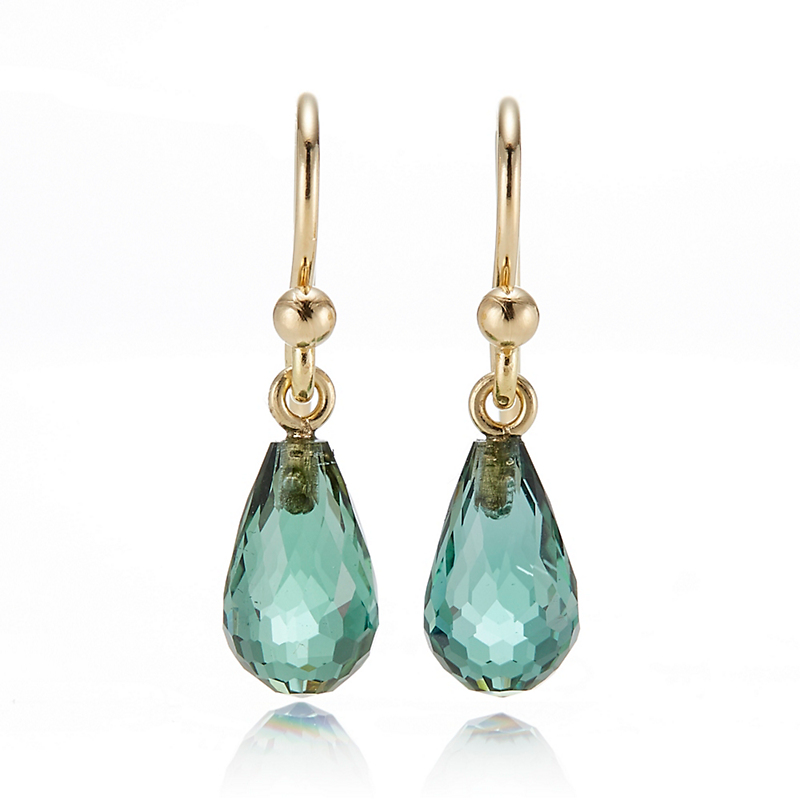 Gump's Faceted Green Tourmaline Briolette Earrings