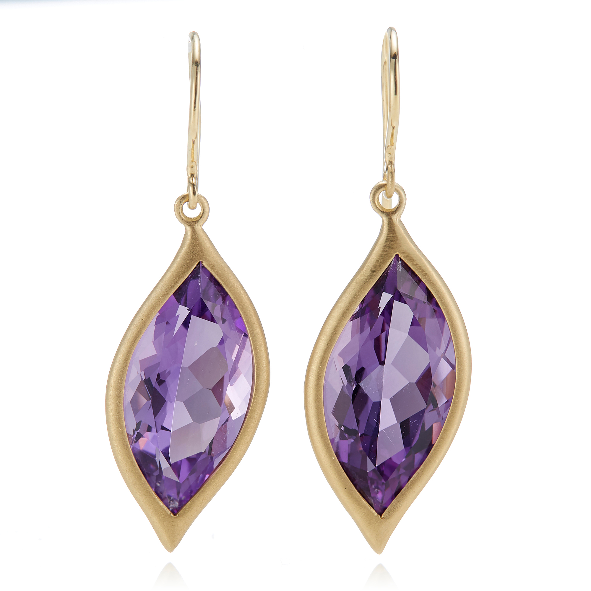 Carelle Amethyst Leaf Earrings