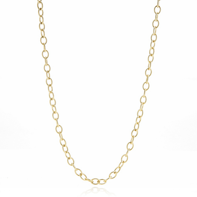 Textured Gold Chain Necklace