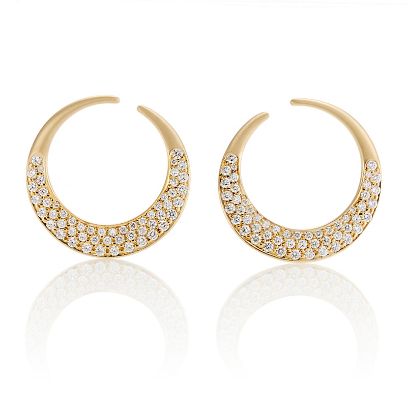 Carelle Curve Interlinks Diamond Earrings