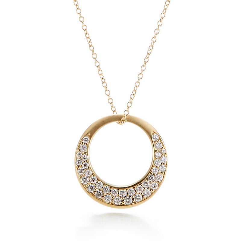Carelle Interlinks Diamond Pendant Necklace