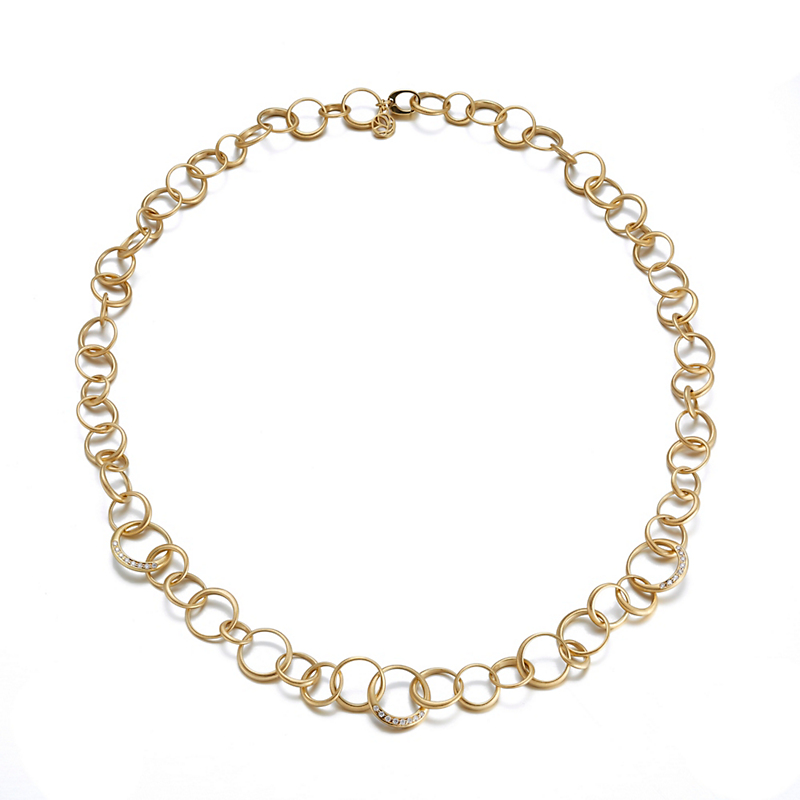 Carelle Gold Interlinks Necklace