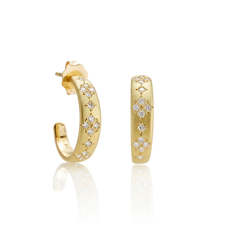 Adel Chefridi Diamond Memories Hoop Earrings