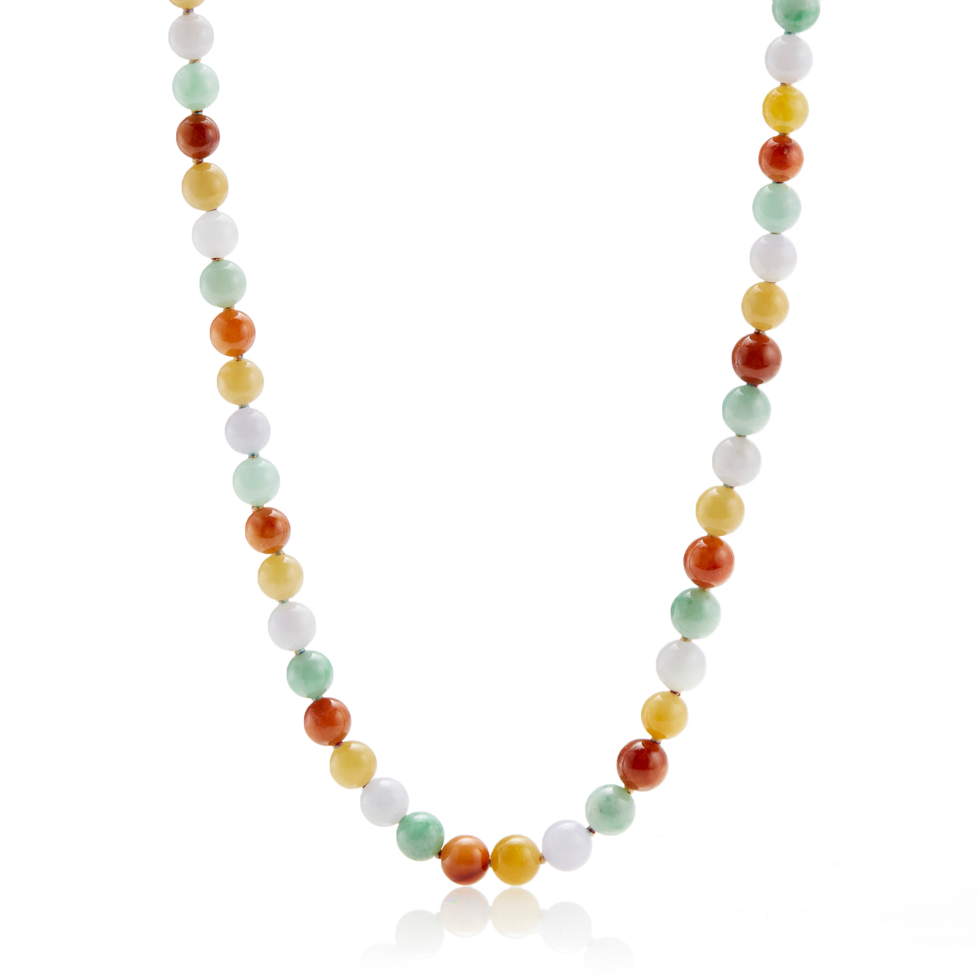 Gump's Multicolor Jadeite Necklace