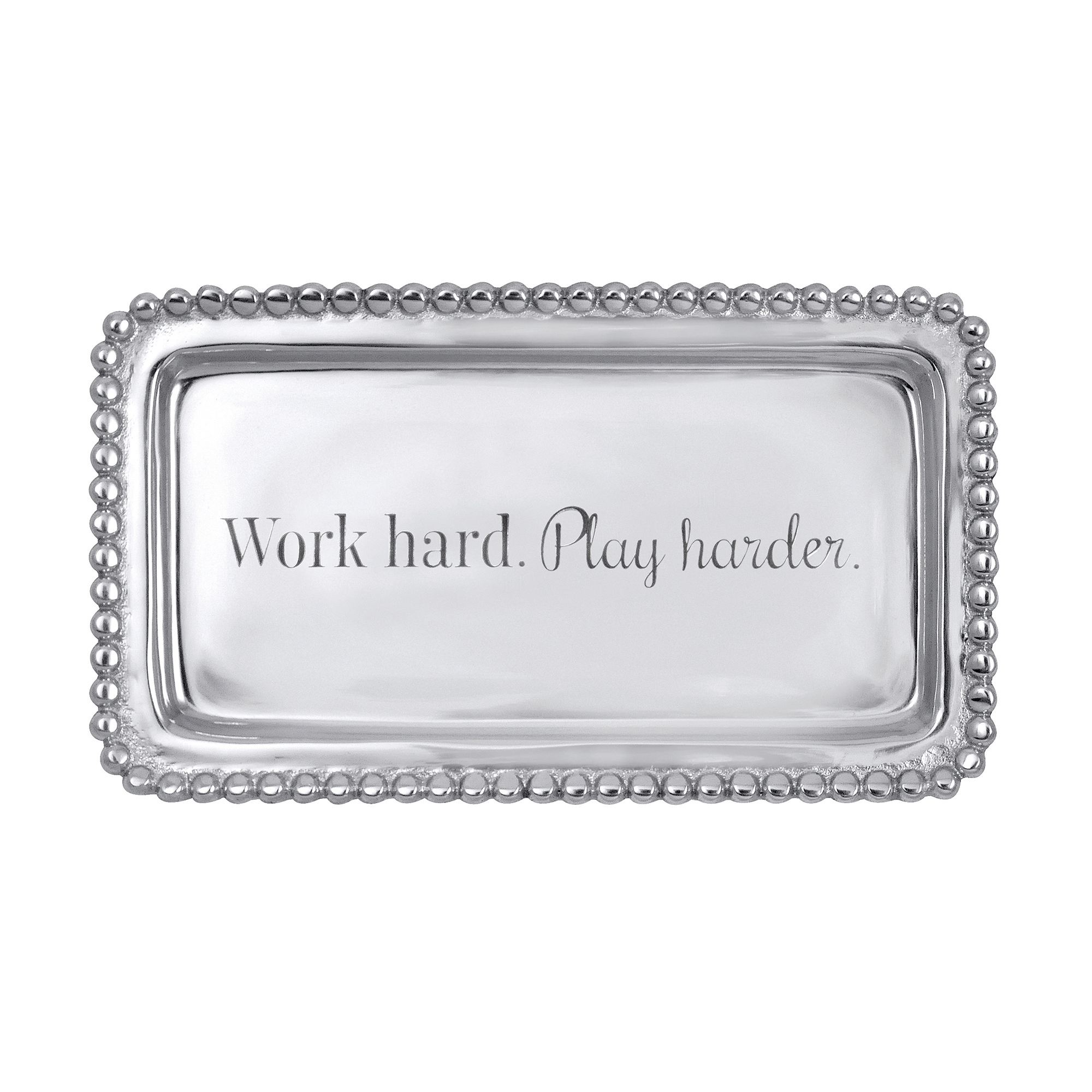 Mariposa 'Work Hard, Play Harder' Tray