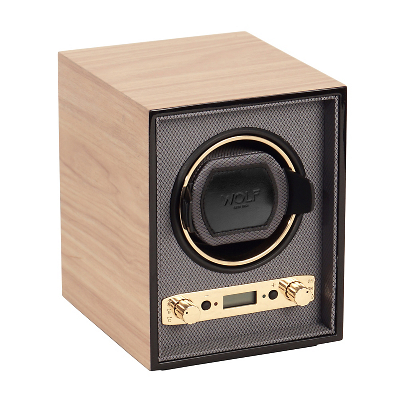 Wolf Meridian Single Watch Winder, Blonde