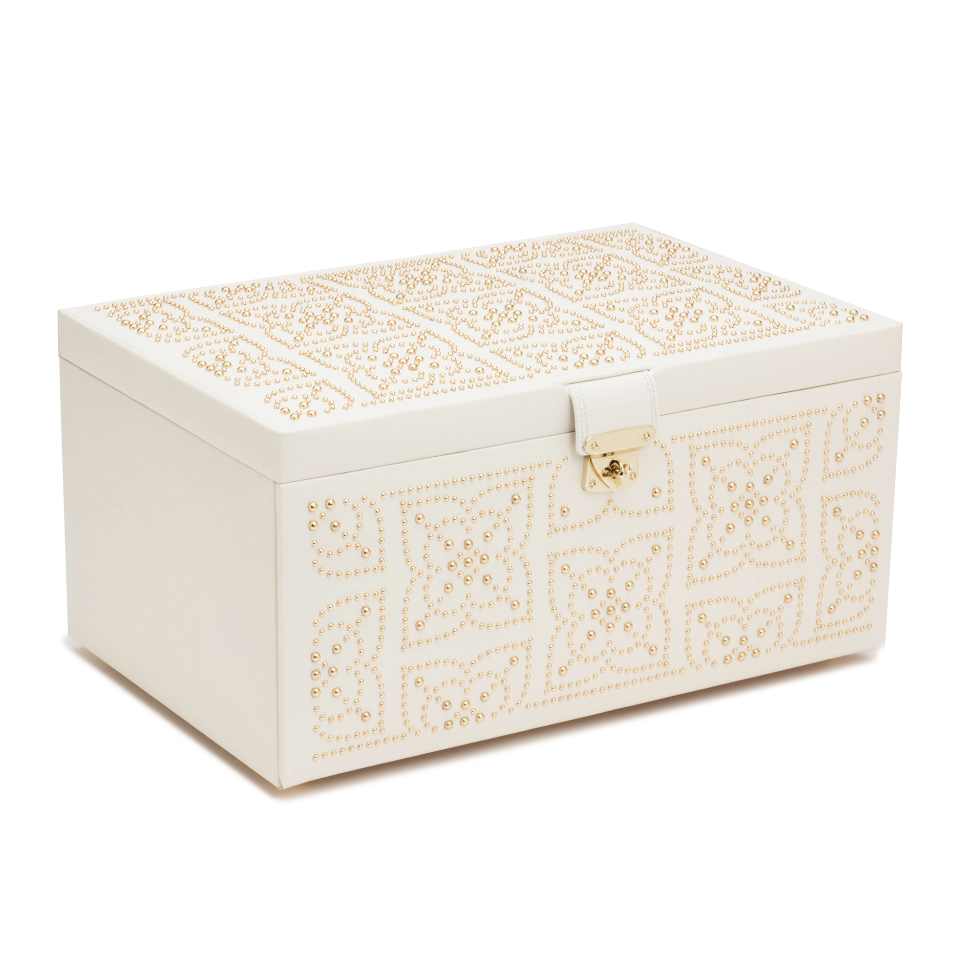 Wolf Marrakesh Jewelry Box, Large Cream