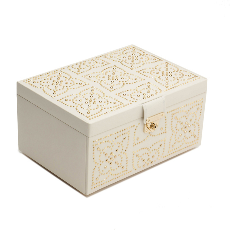 Wolf Marrakesh Jewelry Box, Medium Cream