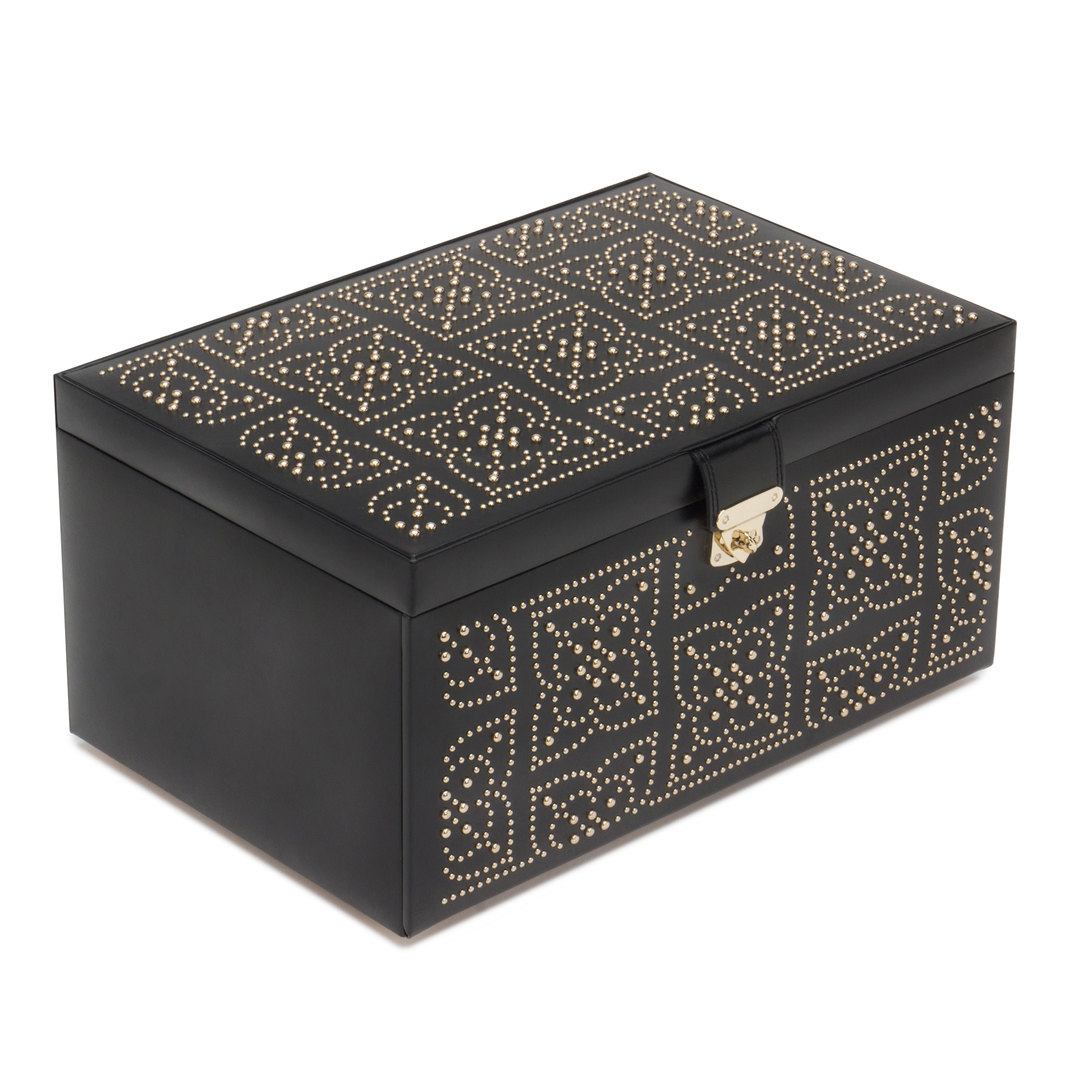 Wolf Marrakesh Jewelry Box, Large Black