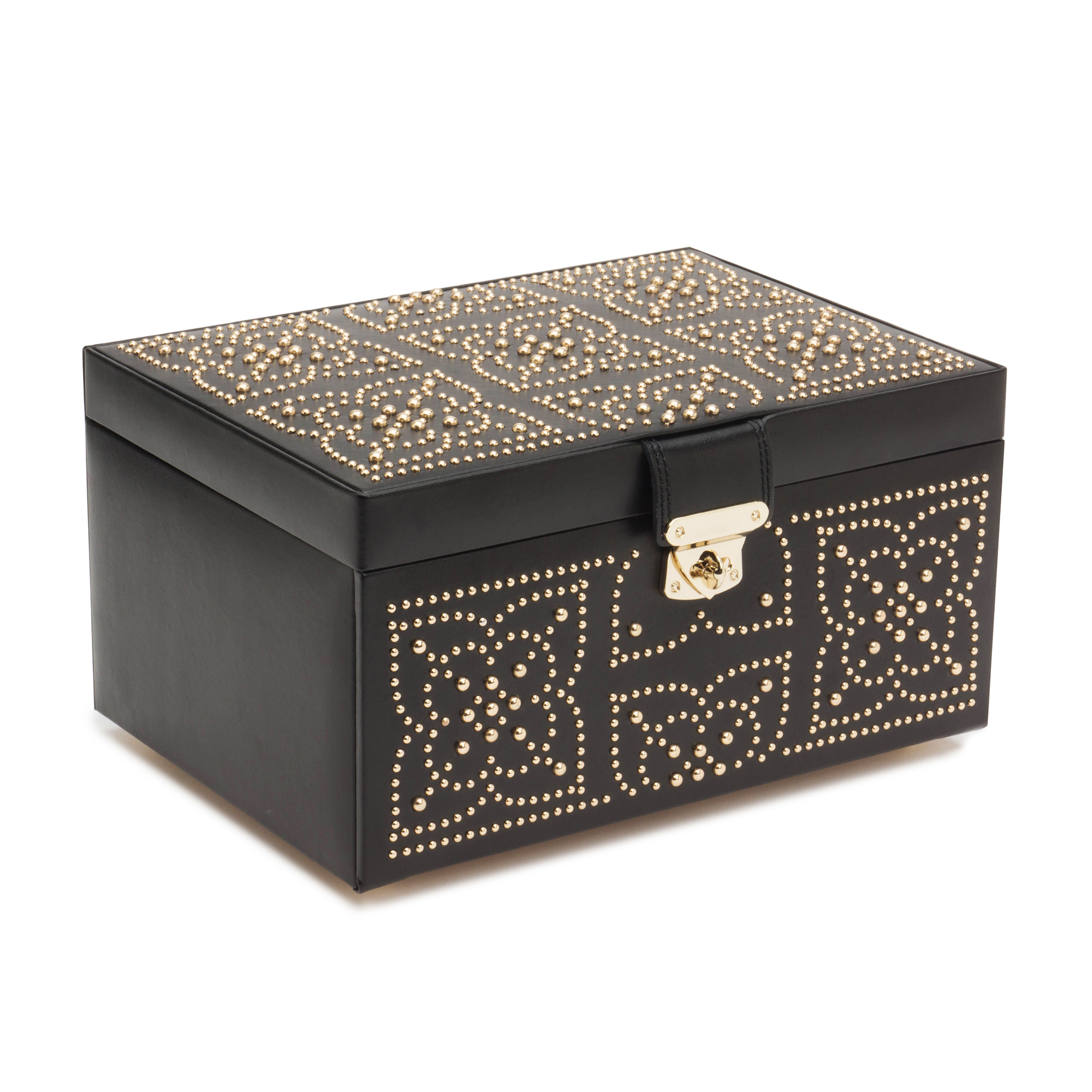 Wolf Marrakesh Jewelry Box, Medium Black