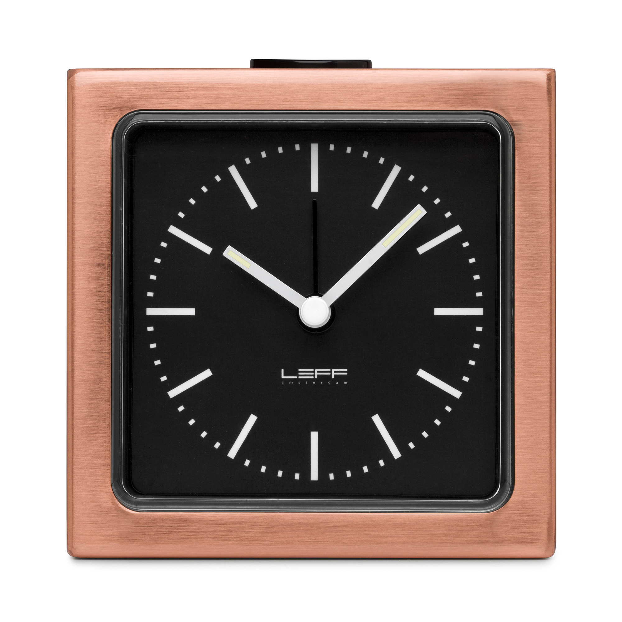 Leff Amsterdam Alarm Clock, Copper/Black