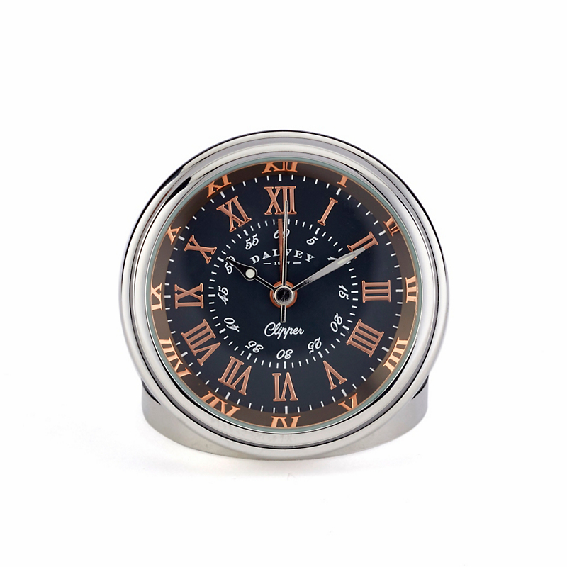 Dalvey Clipper Travel Clock, Black/Rose