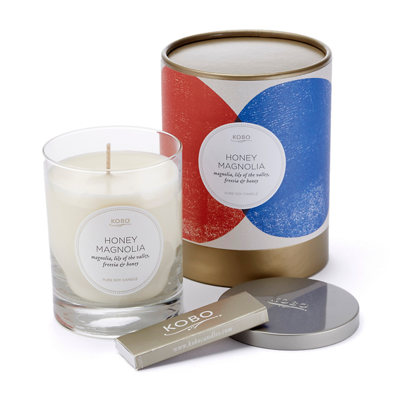 Kobo Pure Soy Candle, Honey Magnolia