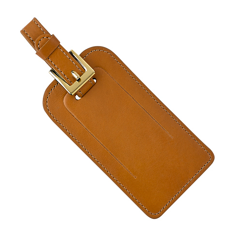 Leather Luggage Tag, British Tan