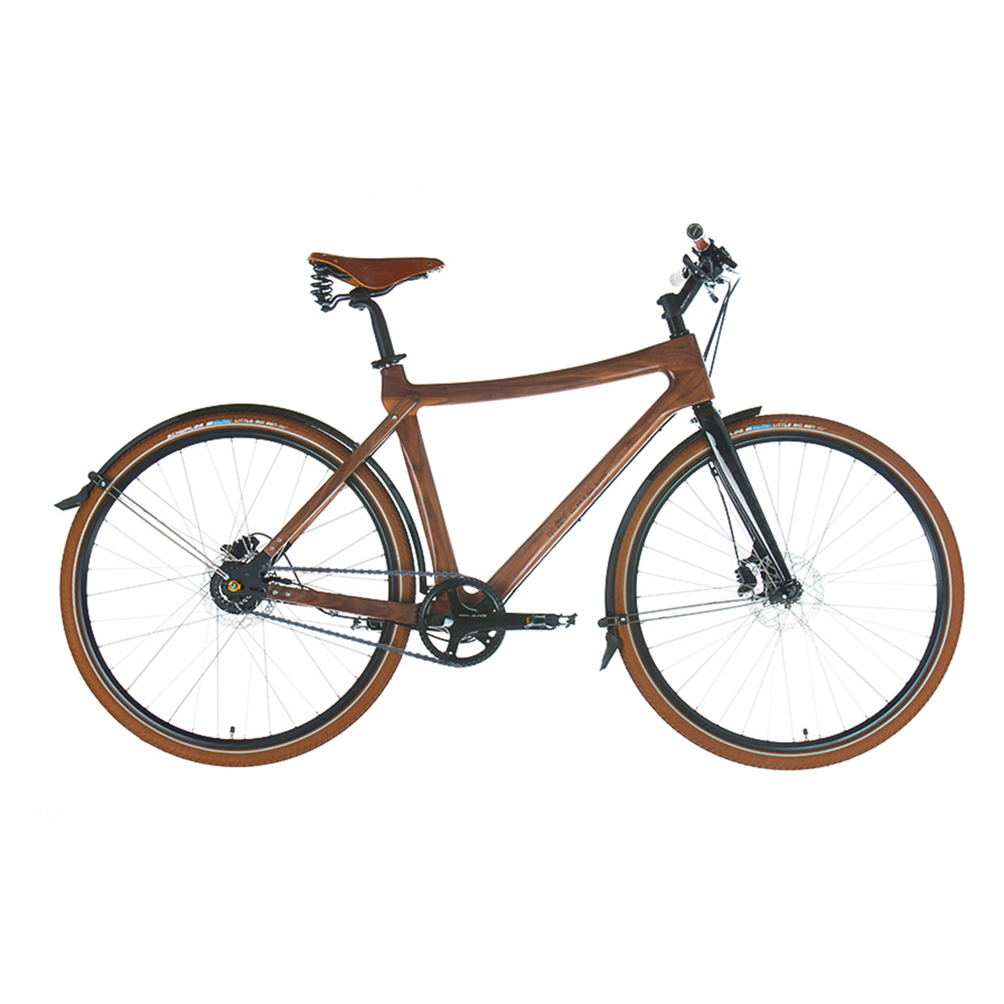 Materia Bikes City Bike Gusto, Walnut