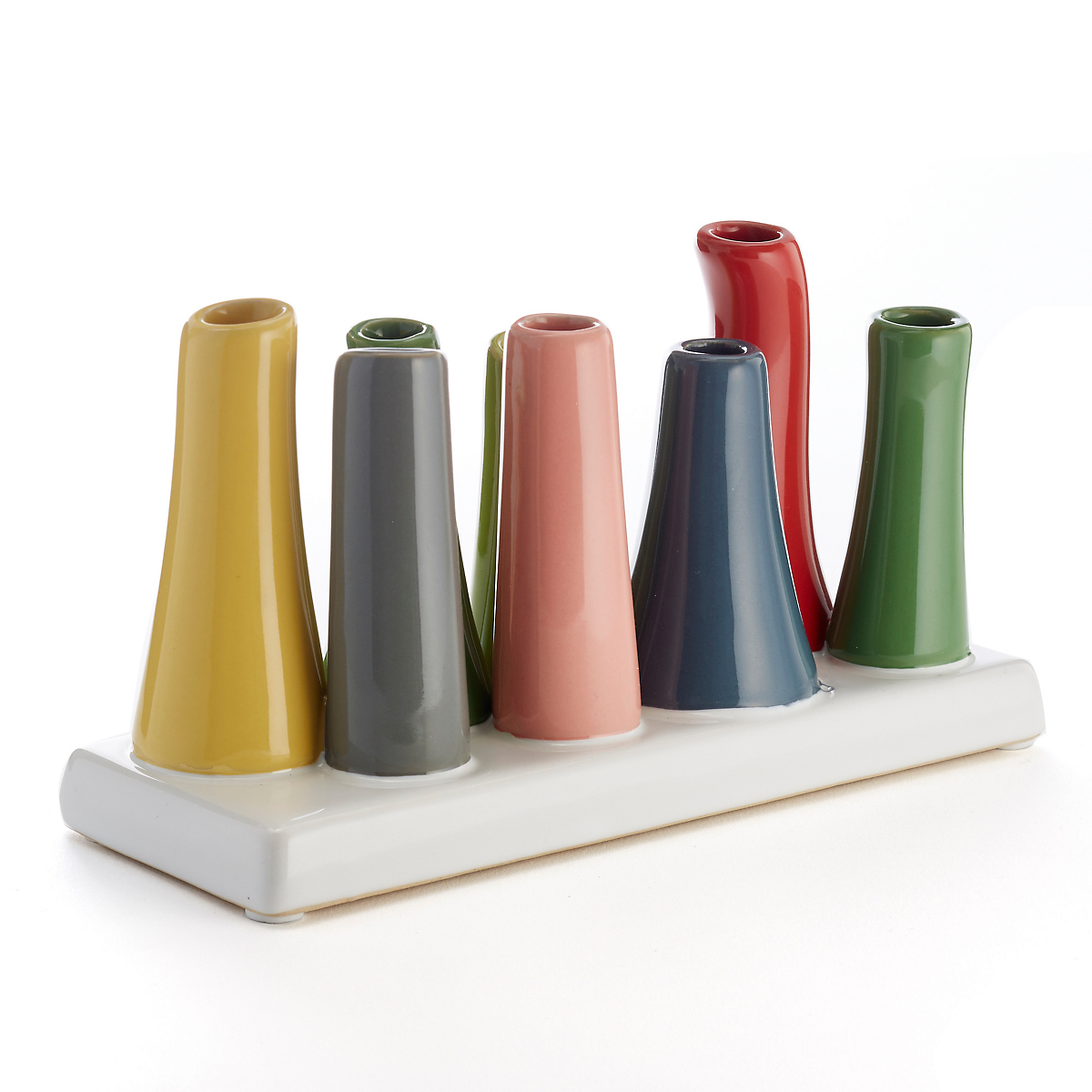 Pooly Multicolored 8-Vase Set