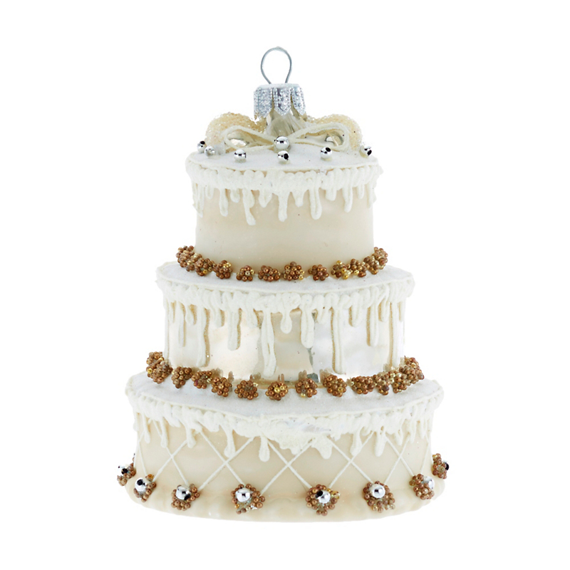 Wedding Cake Christmas Ornament