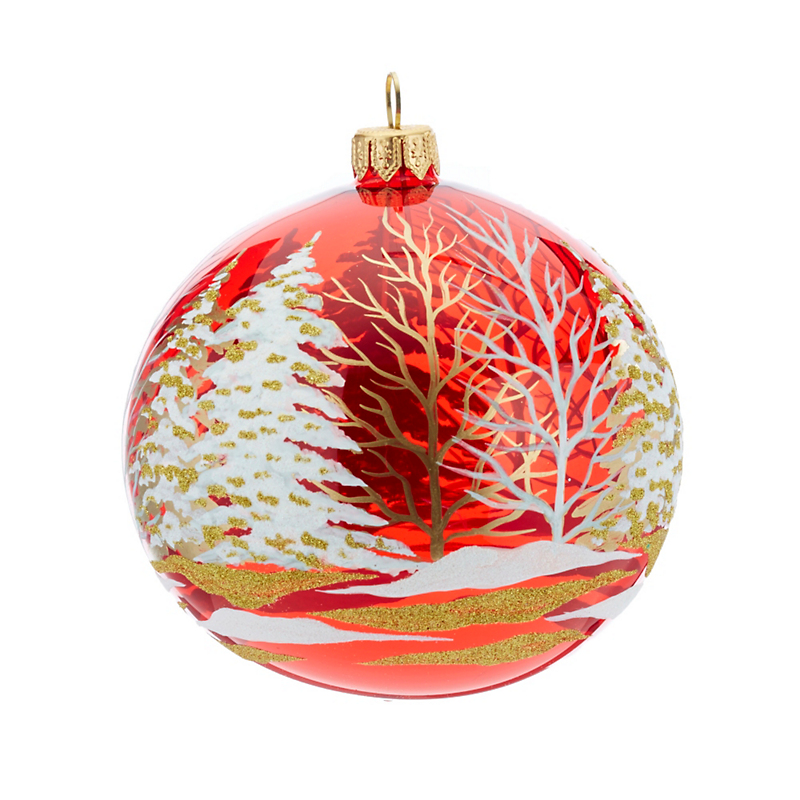 Winter Scene Christmas Ornament