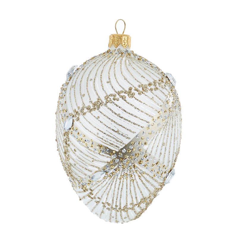 Pleated Egg Christmas Ornament