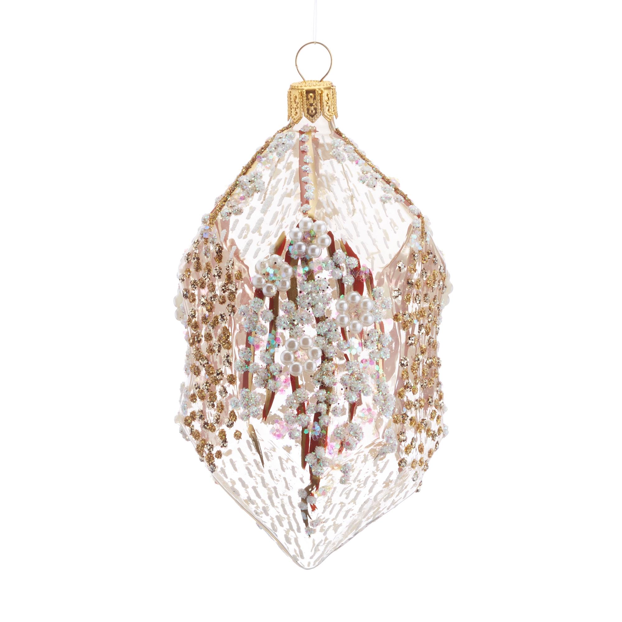 Winter Geode Glass Christmas Ornament | Gump\'s