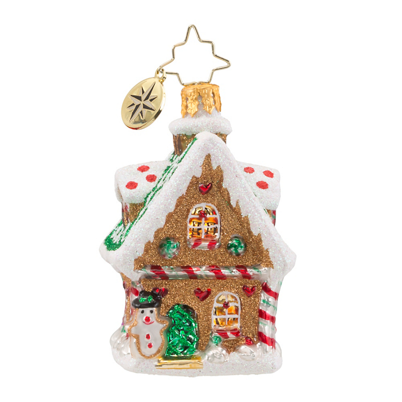 Christopher Radko Ginger Cottage Gem Christmas Ornament