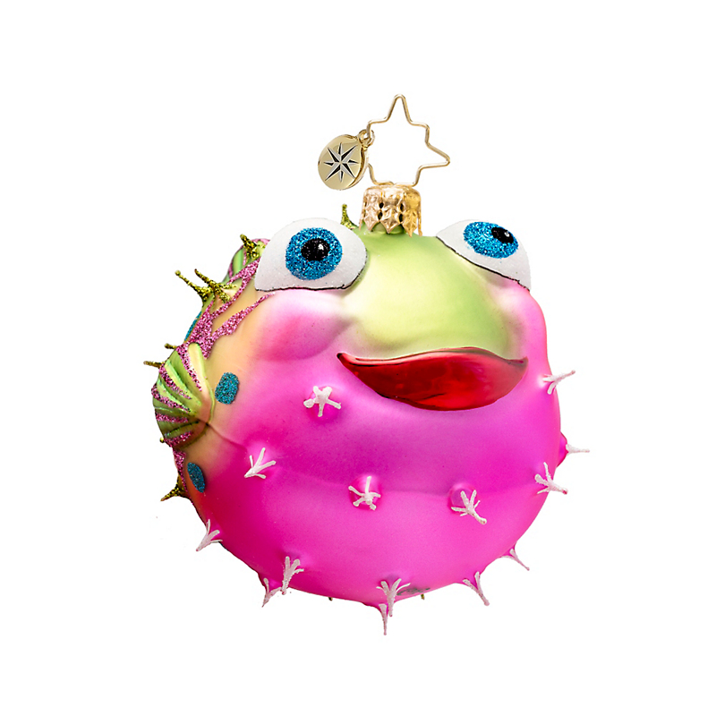 Christopher Radko Puffer Fish Christmas Ornament