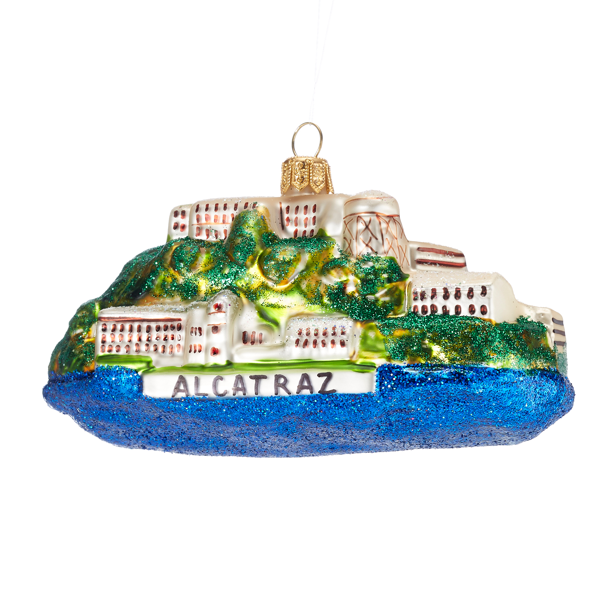 Alcatraz Christmas Ornament