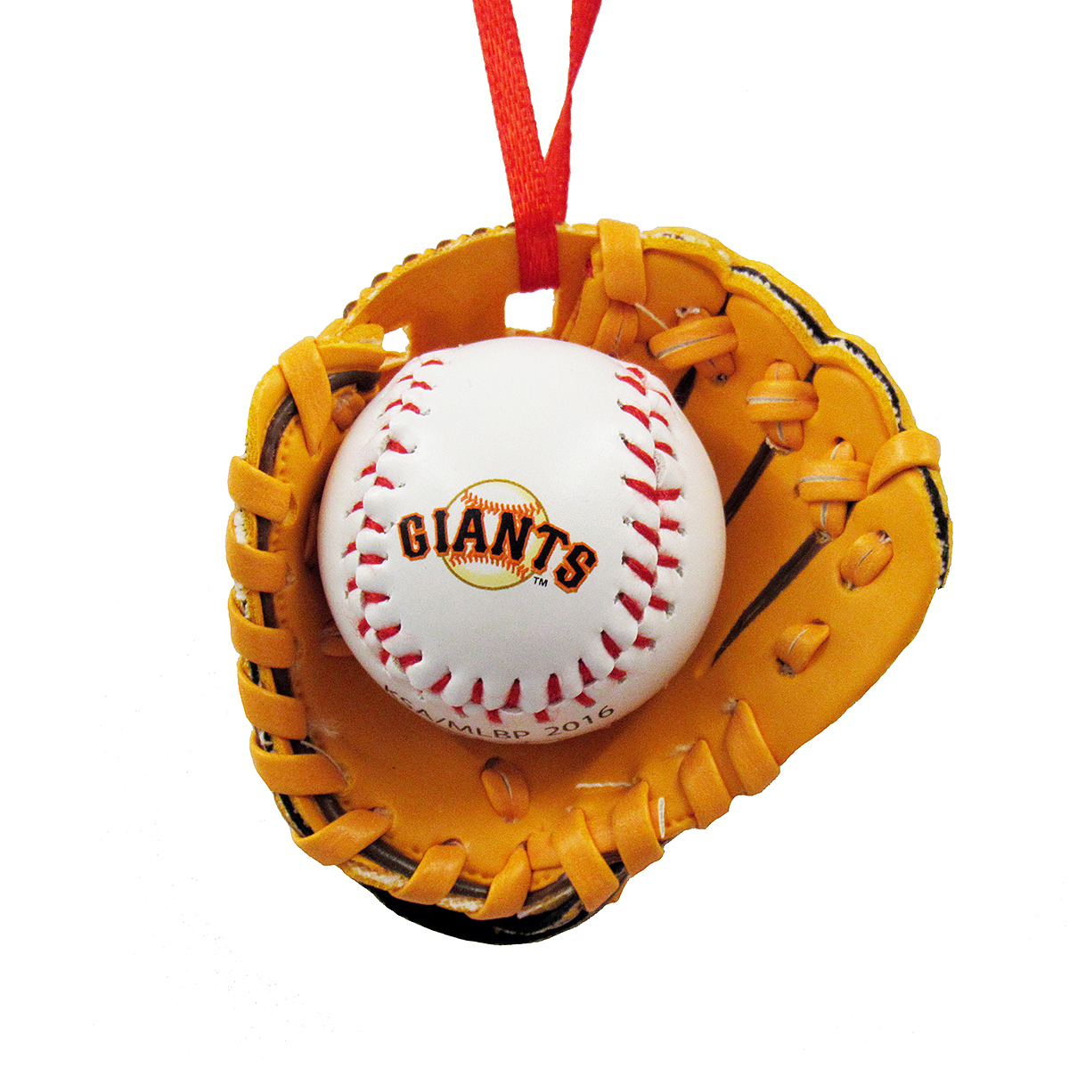 Giants Baseball and Glove Christmas Ornament