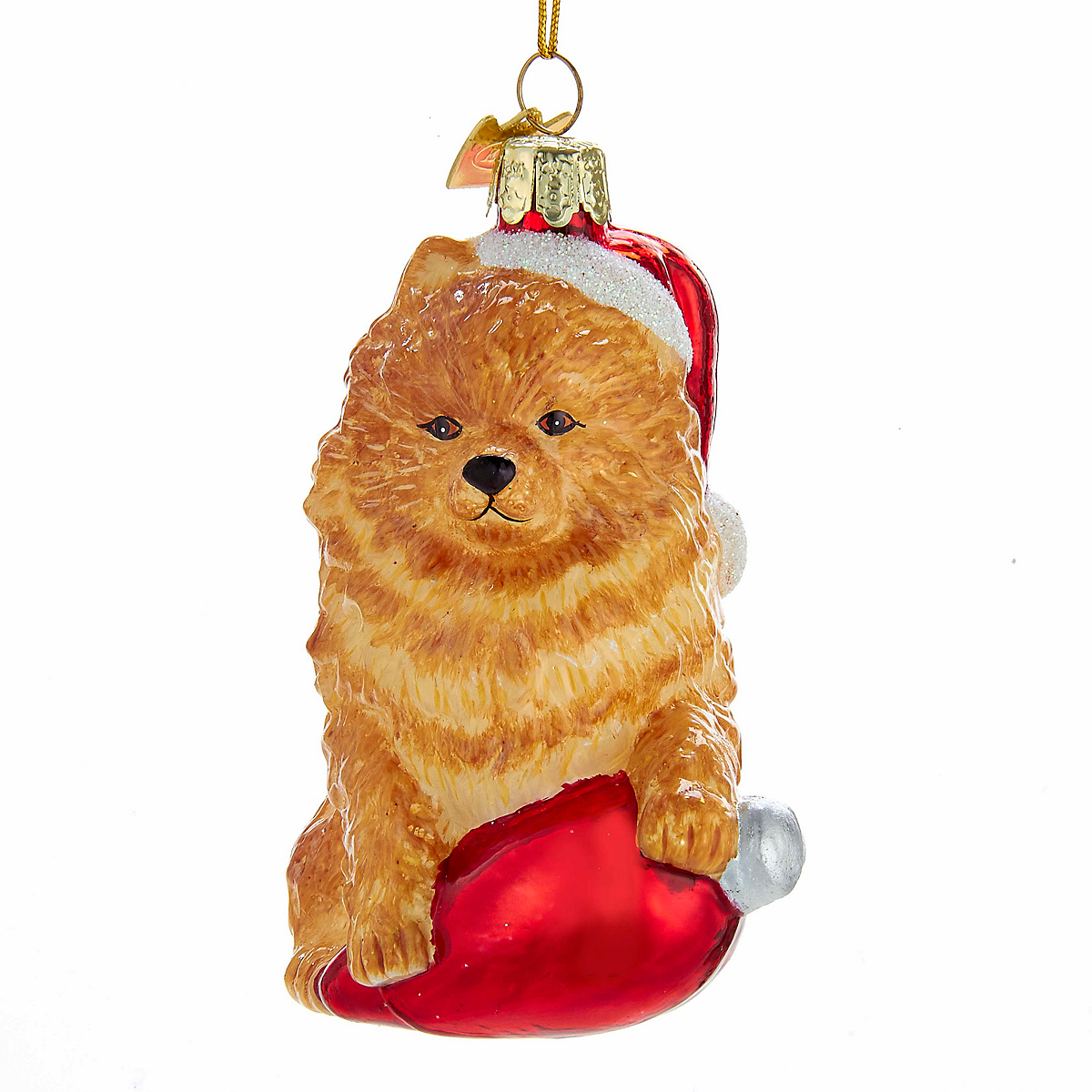 Holiday Pomeranian Christmas Ornament