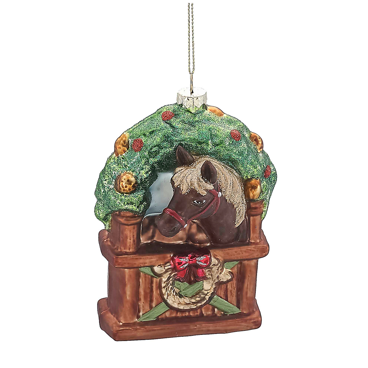Horse in Stable Christmas Ornament   Gump's