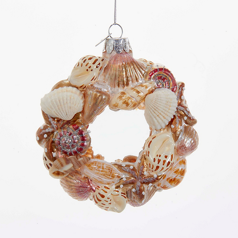 Wreath of Shells Christmas Ornament