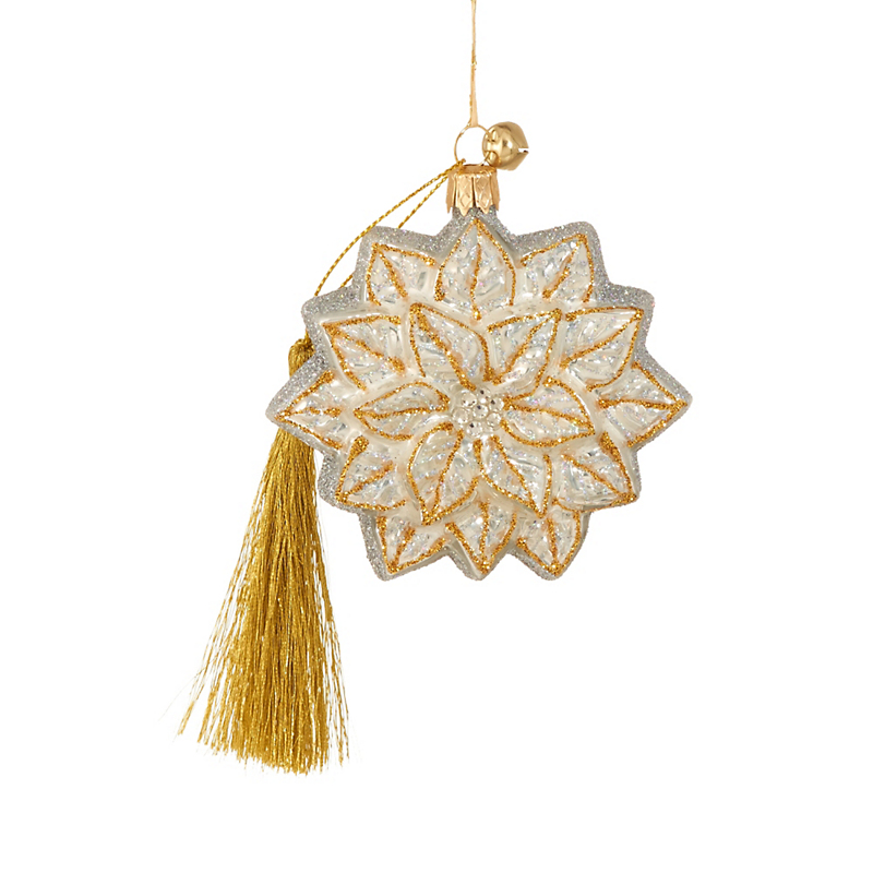Jingle Nog Bialy Setta Christmas Ornament