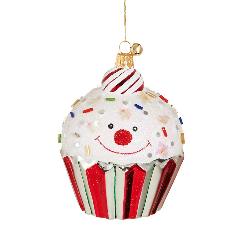Jingle Nog Cupcake Cutie Christmas Ornament